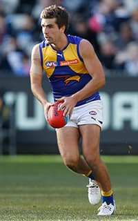 Andrew Gaff collected 30 disposals against Carlton at the MCG