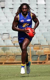 Nic Naitanui will play managed minutes at East Fremantle Oval on Saturday