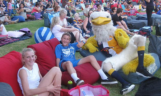 Over 700 members joined the club at Movies By Burswood for a free night out under the stars