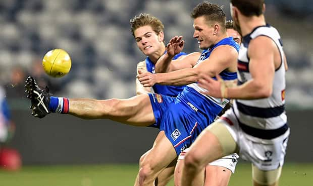 Clay Smith had a game high 31 disposals and eight tackles in Footscray's VFL win over Geelong.