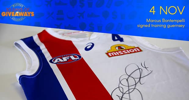 Each day for month of November we'll be giving away Bulldogs-themed prizes our loyal members.  - Western Bulldogs