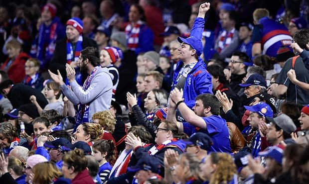 Tickets are now on sale for the 2018 Toyota AFL Premiership season. (Photo: Liz Vagg/Western Bulldogs) - Western Bulldogs,AFL