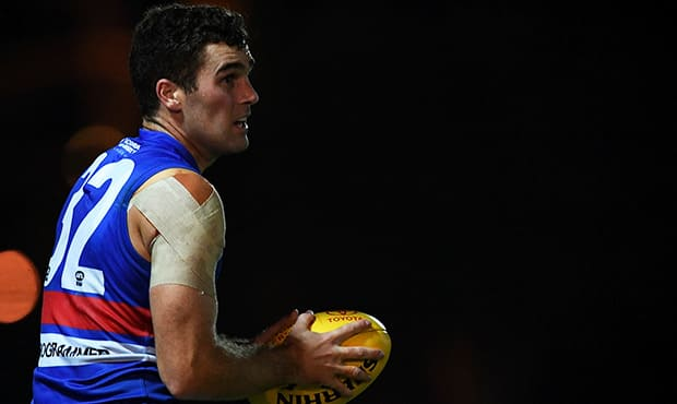 Bulldogs' big man stocks have been bolstered with Kieran Collins and Lewis Young both committing to the Club beyond their current deals. (Photo: Liz Vagg/Western Bulldogs)