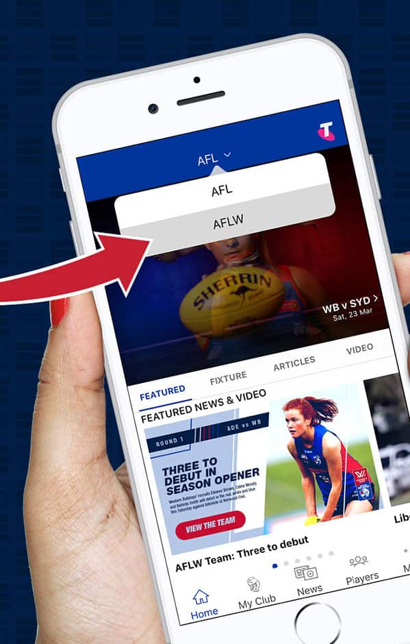 Fans can now customise their experience within the Bulldogs app, with access to both AFL & AFLW content. - Western Bulldogs