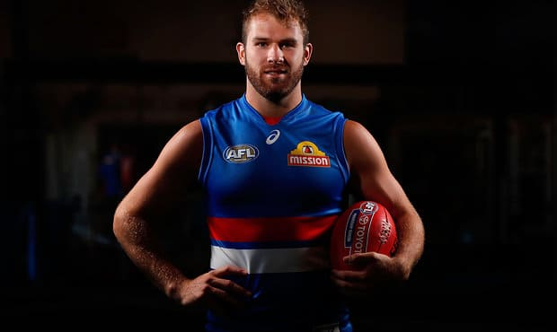 MELBOURNE, AUSTRALIA - FEBRUARY 7: Stewart Crameri of the Bulldogs poses for a portrait during the Western Bulldogs team photo day at the VU Whitten Oval on February 7, 2017 in Melbourne, Australia. (Photo by Adam Trafford/AFL Media)