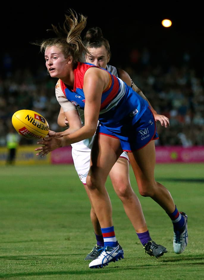 The Western Bulldogs' AFLW players have been put to work this pre-season, according to forward Ellyse Gamble. - Western Bulldogs,AFLW,Ellyse Gamble