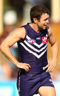 Hayden Ballantyne threw himself into the contest before being hurt on Friday. Picture: Getty Images
