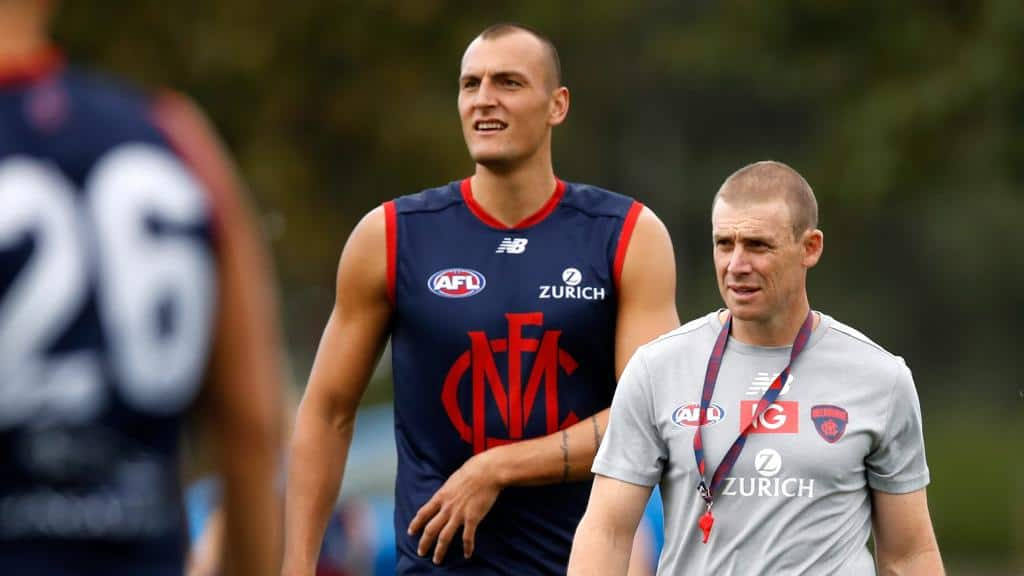 Has potential Melbourne debutant Braydon Preuss won over coach Simon Goodwin? - AFL,Adelaide Crows,Brisbane Lions,Carlton Blues,Collingwood Magpies,Essendon Bombers,Fremantle Dockers,Geelong Cats,Gold Coast Suns,GWS Giants,Hawthorn Hawks,Melbourne Demons,North Melbourne Kangaroos,Port Adelaide Power,Richmond Tigers,St Kilda Saints,Sydney Swans,West Coast Eagles,Western Bulldogs,News,In the Mix