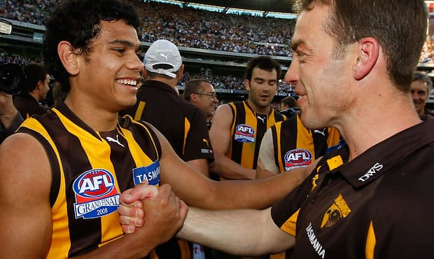 Cyril Rioli is one of just three '08 premiership players remaining on Hawthorn's list today.