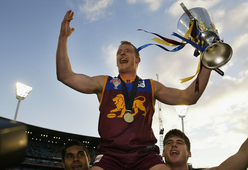 Michael Voss with the 2003 premiership cup - AFL,Grand Final