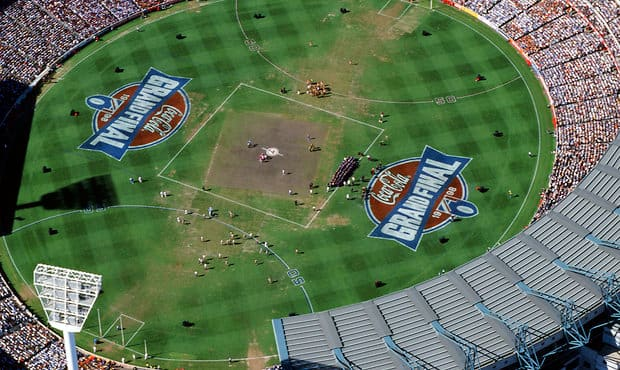 The MCG ahead of Adelaide's clash with North Melbourne in the 1998 Grand Final