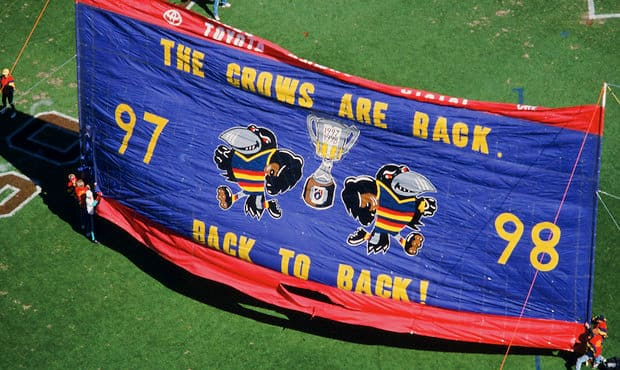 Adelaide's two premierships came in succession in 1997 and 1998