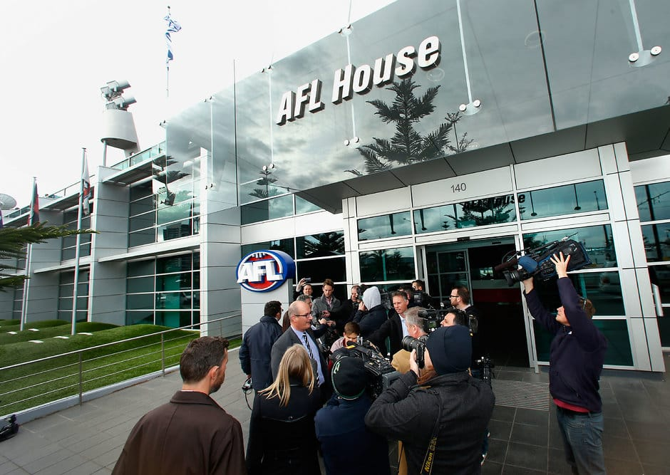 The existing AFL House building on Harbour Esplanade could make way as part of the Docklands redevelopment - AFL