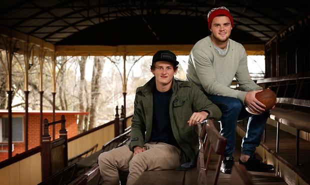 AFL 2014 Portraits - Matt and Brad Crouch