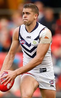 Stephen Hill finished with 25 touches on Saturday.  - Fremantle,Fremantle Dockers,Stephen Hill