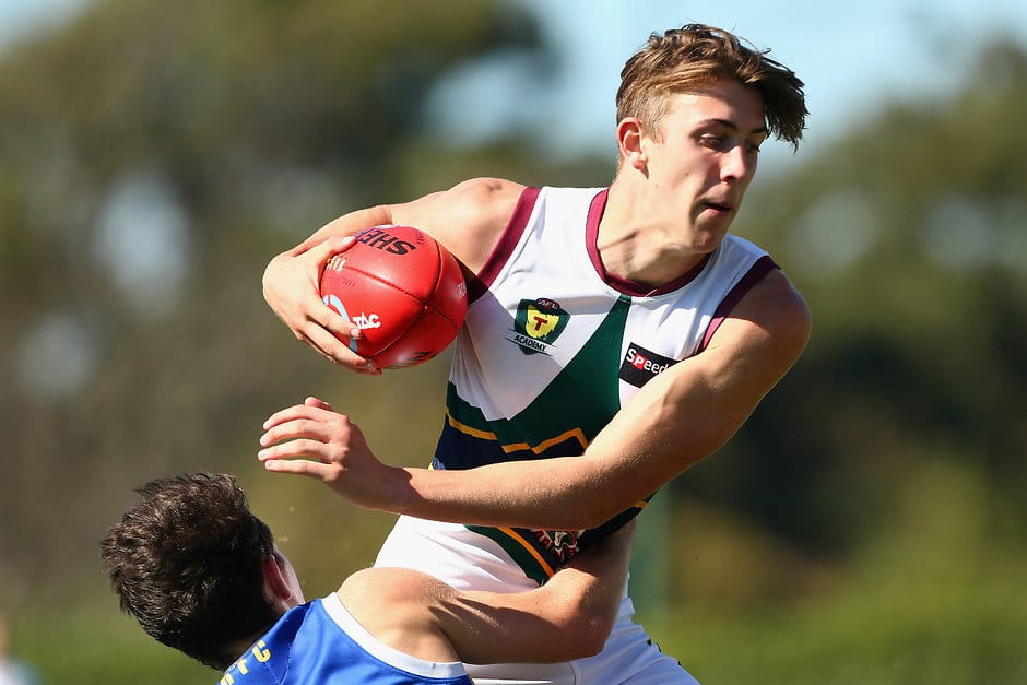 Zac Buechner kicked four goals for Tasmania in the Under-18 Academy Series - ${keywords}