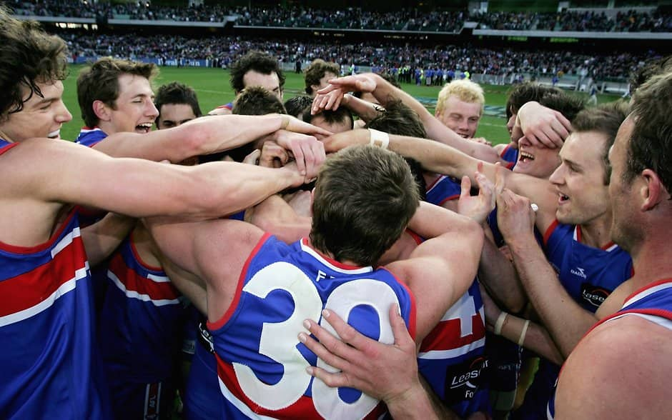 Brett Montgomery kicked four goals in the side's 41-point win over Collingwood in the 2006 Elimination Final. - Western Bulldogs,GWS Giants