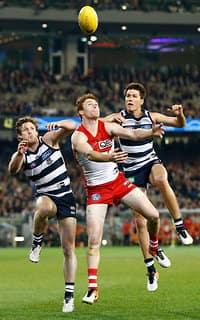 The Cats and Swans will clash at the MCG on Friday night - Geelong Cats