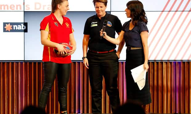 Ebony Marinoff was Adelaide's first selection in last year's AFL Women's Draft - Adelaide Crows