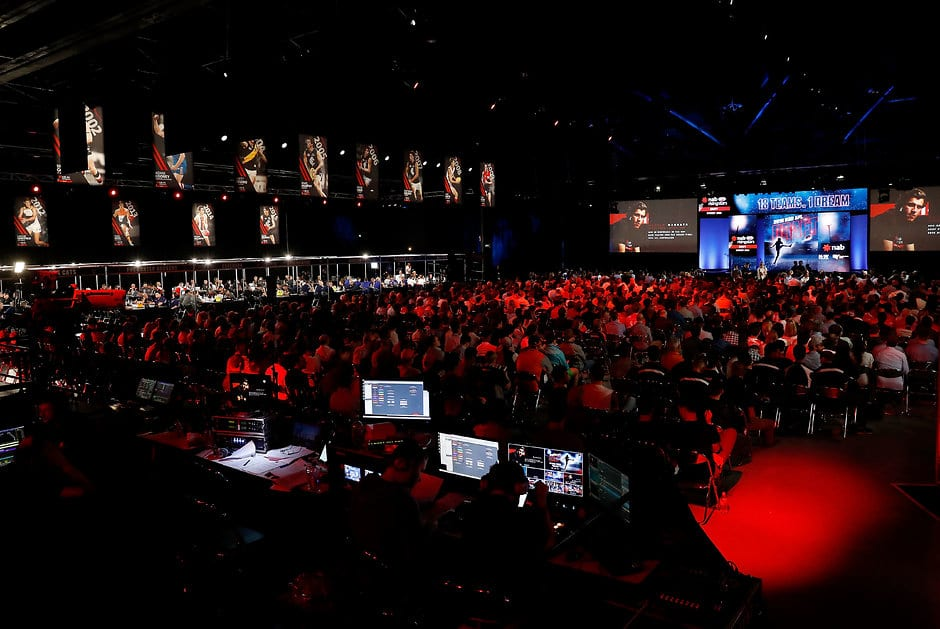 SYDNEY, AUSTRALIA - NOVEMBER 25: General view during the 2016 NAB AFL Draft at the Hordern Pavilion on November 25, 2016 in Sydney, Australia. (Photo by Michael Willson/Pool Photo/AFL Media) (Editors Note: This image is free for editorial use only)