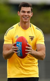 Jaeger O'Meara at Hawthorn training