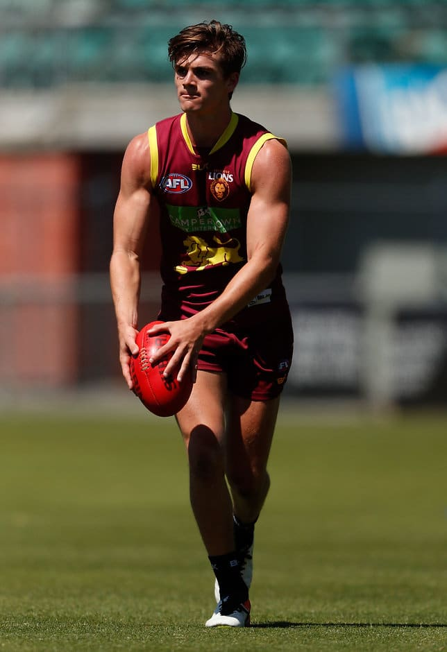 LAUNCESTON, AUSTRALIA - DECEMBER 16: Ben Keays of the Lions in action during the Brisbane Lions training session at Aurora Stadium in Launceston, Australia on December 16, 2016. (Photo by Adam Trafford/AFL Media)