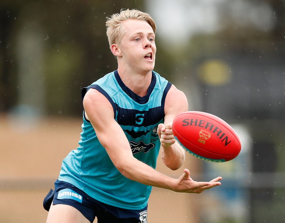 GEELONG, AUSTRALIA - JANUARY 13: Zach Guthrie of the Cats in action during the Geelong Cats training session at Deakin University, Waurn Ponds on January 13, 2017 in Geelong Australia. (Photo by Adam Trafford/AFL Media)