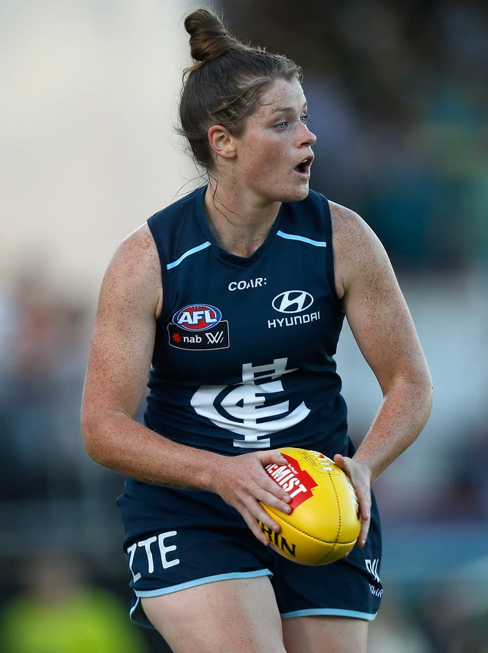 Brianna Davey will captain Carlton in the 2018 AFLW season - AFLW,Brianna Davey,Lauren Arnell,Carlton Blues