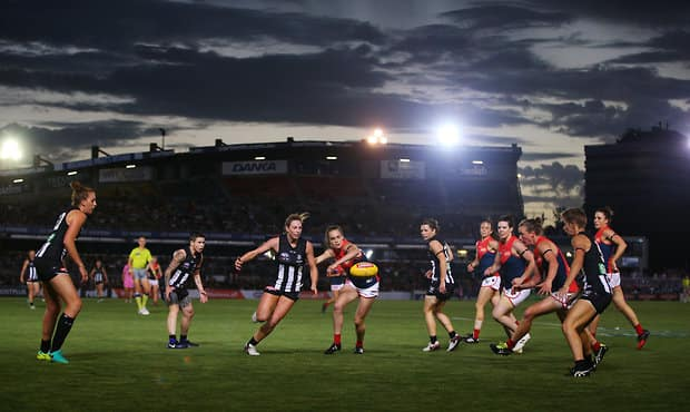AFLW 2017 Rd 02 - Collingwood v Melbourne