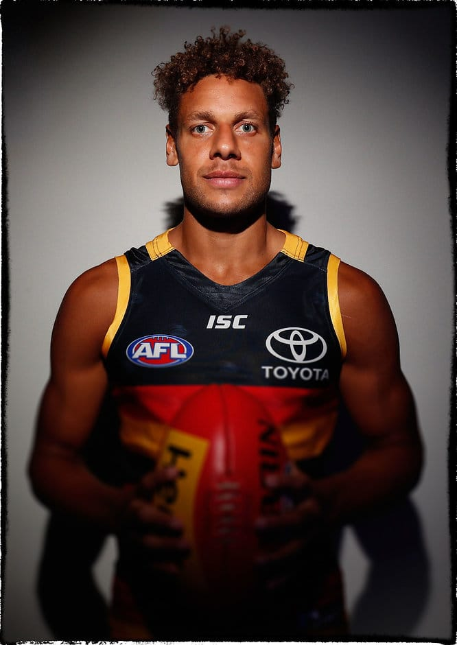ADELAIDE, AUSTRALIA - FEBRUARY 14: Cam Ellis-Yolmen of the Crows poses for a portrait during the Adelaide Crows team photo day at AAMI Stadium on February 14, 2017 in Adelaide, Australia. (Photo by Adam Trafford/AFL Media)