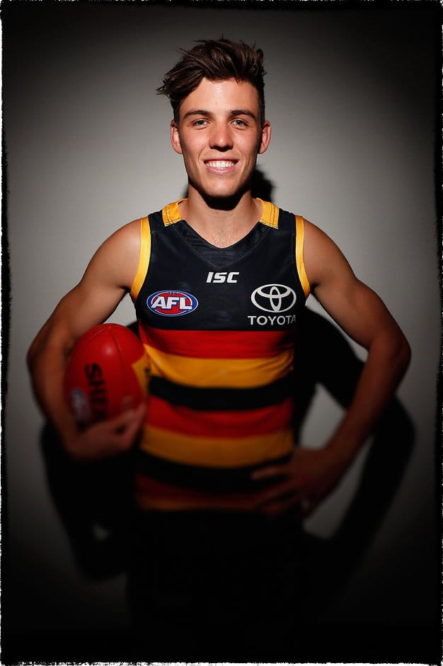 ADELAIDE, AUSTRALIA - FEBRUARY 14: Paul Seedsman of the Crows poses for a portrait during the Adelaide Crows team photo day at AAMI Stadium on February 14, 2017 in Adelaide, Australia. (Photo by Adam Trafford/AFL Media)