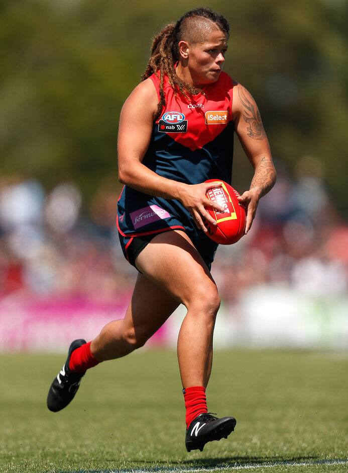 Richelle Cranston in action for the Demons last season - AFLW,Melbourne Demons,Richelle Cranston