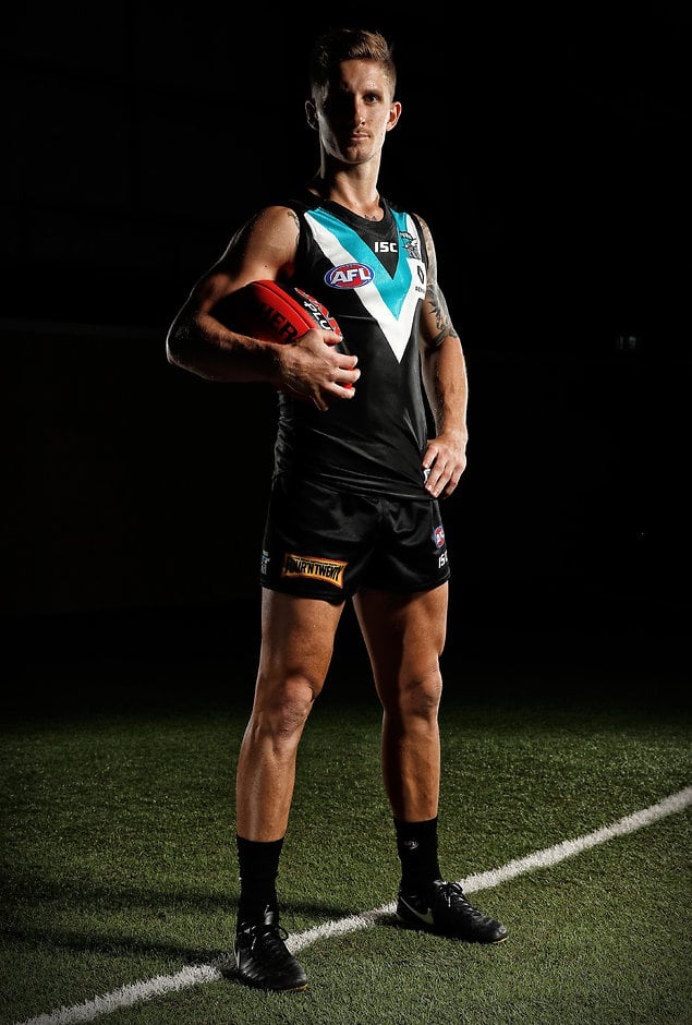 Hamish Hartlett is out of Port Adelaide's side to face Carlton - ${keywords}