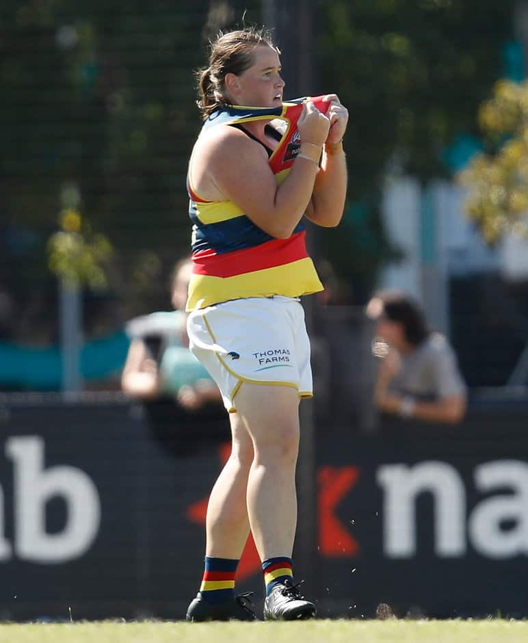 Sarah Perkins took the AFLW competition by storm this year - AFLW,Sarah Perkins,Adelaide Crows