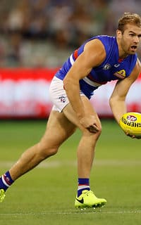 Crameri has spent four seasons at the Bulldogs since crossing from Essendon at the end of the 2013 season. (Photo: AFL Media) - Western Bulldogs,Stewart Crameri,Mitch Honeychurch