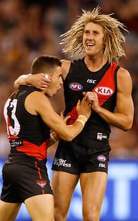 New Essendon skipper Dyson Heppell was impressive in his football return