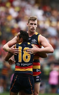 Crows captain Taylor Walker is in good form