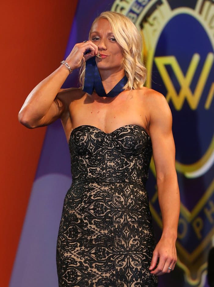 Erin Phillips capped an incredible season by winning the inaugural AFLW best and fairest - AFLW,Erin Phillips