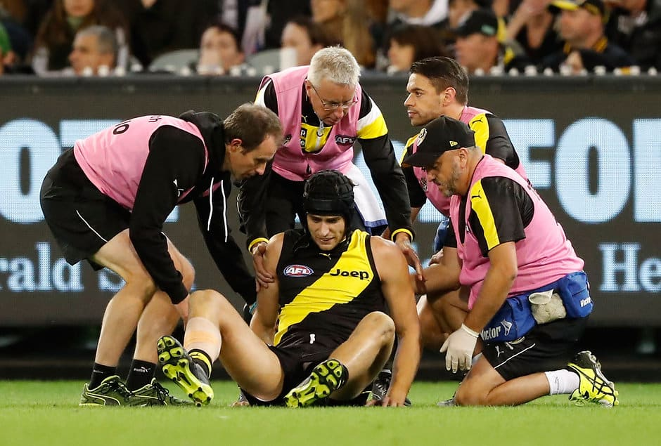 Ben Griffiths after being concussed in round two last season - AFL,Richmond Tigers,Ben Griffiths,Retirements,Delistings
