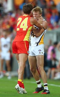 David Swallow was impressive against the Hawks, earning himself maximum votes from both coaches.