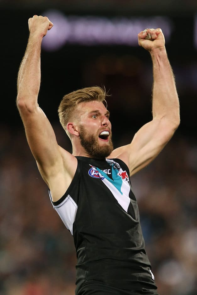 Jackson Trengove was part of Port's dominant ruck duo - ${keywords}