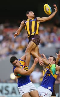 Cyril Rioli was back to high high-flying best.