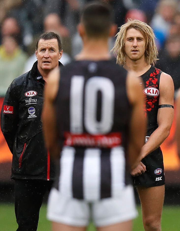 Tension builds before the Anzac Day game in 2017 - AFL,Collingwood Magpies,Essendon Bombers