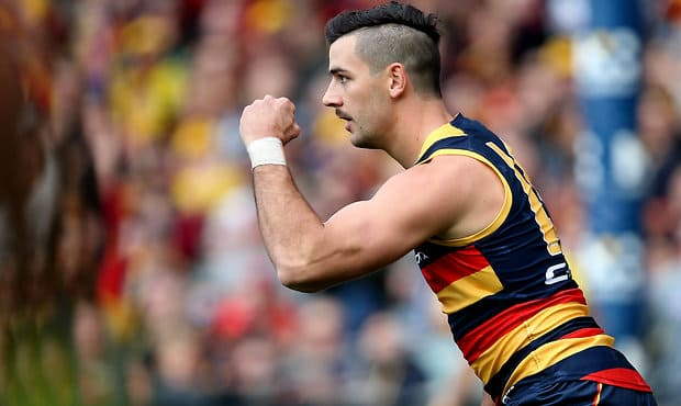 Adelaide captain Taylor Walker is ranked No.1 on Champion Data's scoreboard impact meter