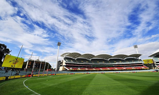 ADELAIDE, AUSTRALIA - APRIL 30:  A general view of Adelaide Oval prior to the round six AFL match between the Adelaide Crows and the Richmond Tigers at Adelaide Oval on April 30, 2017 in Adelaide, Australia.  (Photo by Daniel Kalisz/Getty Images/AFL Media)