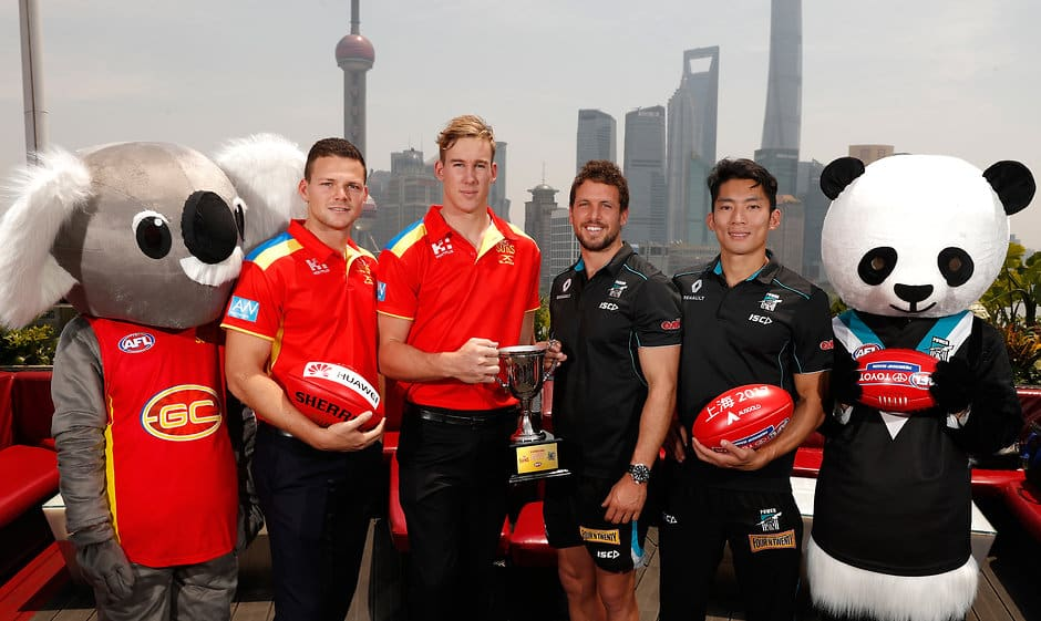 Gold Coast and Port Adelaide took AFL to Shanghai last year - AFLX,AFL