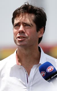 AFL 2017 Media - Gillon McLachlan at the Shanghai Cup