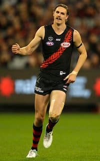 Joe Daniher was superb for the Bombers, kicking accurately and marking strongly