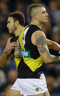 Dustin Martin was outstanding in Richmond's convincing win over North Melbourne