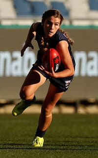 GEELONG, AUSTRALIA - JUNE 17: Maddy Guerin of Vic Metro during the 2017 AFLW Under 18 Championships match between Vic Country and Vic Metro at Simonds Stadium, Geelong on June 17, 2017 in Geelong, Australia. (Photo by Adam Trafford/AFL Media) - Western Bulldogs